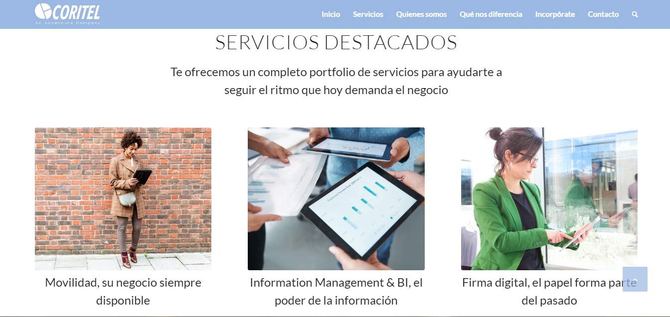 coritel servicios diseño web iempresa