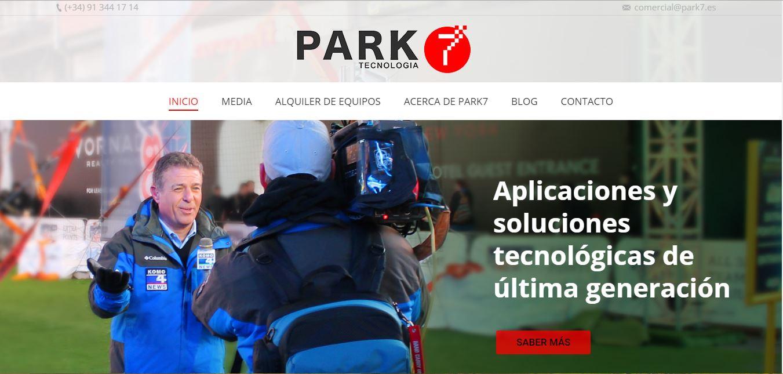 Renovación Página Web Park 7