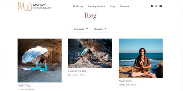 Caso de exito pagina web blog