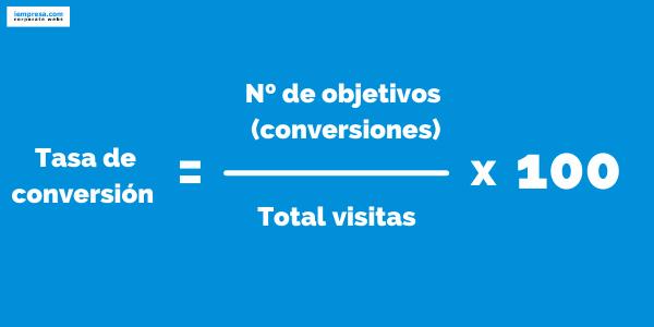 Cómo calcular tasa conversion